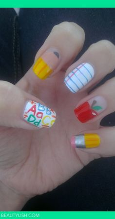 back to school nails | Alexis C.'s Photo | Beautylish