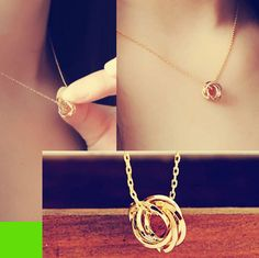 Golden Circles Fashion Necklace | LilyFair Jewelry, $16.99!