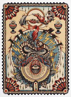 Paz Bunuel is Spanish and tattoos at Treze Labs Tattoo in Castelló (ES). Traditional Tattoo Painting, Traditional Tattoo Design, Traditional Tattoo Flash, Dessin Old School, Old School Ink, Arm Sleeve, Desenhos Old School, Tradional Tattoo, Tatto Old