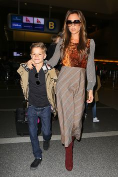 Victoria Beckham and her son
