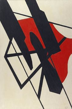 Black and Red Tension Artist: Balcomb Greene Completion Date: 1935 Style: Abstract Art Genre: abstract