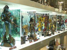 Window display outside Toy Hunters - Official Hot Toys Showroom, CTMA building, Mongkok - Hong Kong