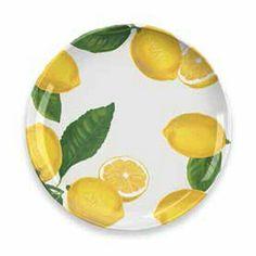Lemon Fresh Melamine Collection 12 Piece Dinnerware Set by TarHong Melamine Dinnerware, Dinnerware Sets, Tableware, Lemon, Shapes, Traditional, Fresh, Country, Store