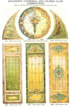 STAINED GLASS DESIGNS a Rare illustrated Catalog of Over 60 Designs
