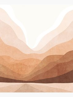 """Warm mountain landscape"" Mounted Print by Miss-Belle 