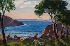 """""""Plum Cove, Annisquam,"""" Gifford Beal, ca.1925, oil on canvas, 20 x 30"""", private collection."""