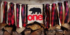 BEAR Highchair High Chair Birthday Banner Woodland Camping Fishing Hunting Lumberjack Banner Buffalo Plaid Cake Smash Photo Prop First One by RawEdgeSewingCo on Etsy https://www.etsy.com/listing/253730884/bear-highchair-high-chair-birthday