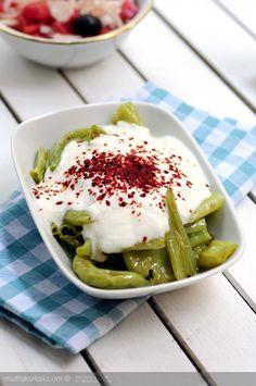 Fried Pepper Yogurt - a wonderful summery Turkish side dish