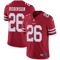 Youth Nike San Francisco 49ers #26 Rashard Robinson Limited Red Team Color NFL Jersey