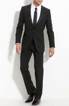 Nordstrom  HUGO 'Aikin Hollo' Trim Fit Wool Tuxedo Free Next Day Shipping Online Only