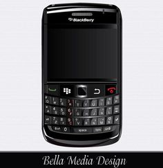 Vector BlackBerry Bold 9700 | Download Free Vector Illustration
