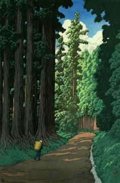 "Japanese Art Print ""Road to Nikko"" by Kawase Hasui, woodblock print reproduction, asian art, cultura Wallpaper Fofos, Art Occidental, Japanese Woodcut, Art Asiatique, Illustration Art, Illustrations, Nikko, Art Japonais, Japanese Painting"