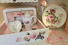 Penny's Vintage Home: Pink Kitchen Shelf