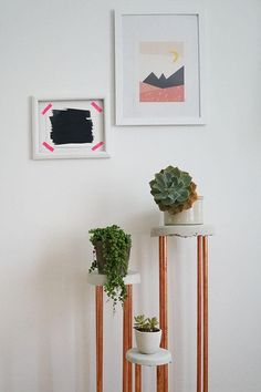 Try displaying your spring and summer flowers on a DIY plant stand. You'll need copper and concrete to take on this project.