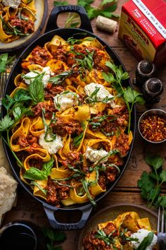 This Pappardelle with Ricotta and Pork Ragu takes a little extra time, but it is so worth it. It's comforting, flavorful and beautiful. Pork Recipes, Fish Recipes, Pasta Recipes, Cooking Recipes, Healthy Recipes, Slow Cooker Chicken Stew, Comida Disney, Pork Ragu, Comfort Food