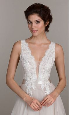MARIA - A-line V-neck Court train Organza Wedding dress - Sposamore