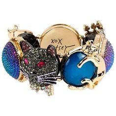 DARK SHADOWS MULTI CRITTER STRETCH BRACELET (1,095 MXN) ❤ liked on Polyvore featuring jewelry, bracelets, stretch bracelet, betsey johnson jewelry, stretch jewelry, betsey johnson bangle and bracelet jewelry