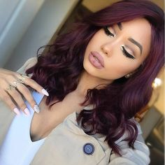perfect fall hair colors ideas for women 11 ~ thereds. Red Violet Hair, Violet Hair Colors, Purple Hair, Ombre Hair, Deep Burgundy Hair Color, Red Hair On Brown Skin, Dark Red Hair Burgundy, Burgendy Hair, Color Beige