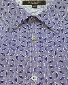 Jacquard print shirt - Blue | Shirts | Ted Baker UK