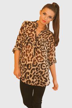 #cheetah #fall #fashion #trends #fierce #hardtboutique #shirt #sheer