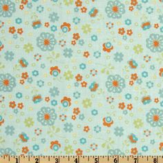 Dress Up Days Floral Aqua Item Number: FL-824 On Sale: $7.18 per Yard