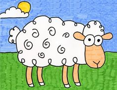 My new step by step tutorial will show you how to draw a sheep with just a few simple lines. It's how cartoon artists draw every day. Cartoon Drawing For Kids, Drawing Lessons For Kids, Art Drawings For Kids, Amazing Drawings, Cartoon Drawings, Easy Drawings, Drawing Tips, Art Lessons, Projects For Kids