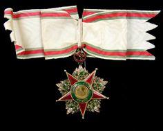 Order of Charity (Nişan-ı Şefkat) (Ottoman Empire) – Second Class Badge (c. 1910, diamonds, gold and enamels, 58mm x 76mm) (obverse)