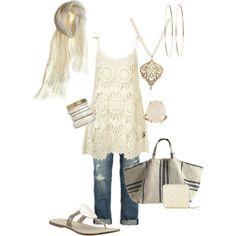 boho scene    Cream crochet swing dress topshop.com, boyfriend slouchy capri ae.com, bernardo mardi flat piperlime.com