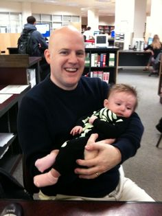 Music Librarian Bill Blair (with future librarian Violet Bebbington Luker).