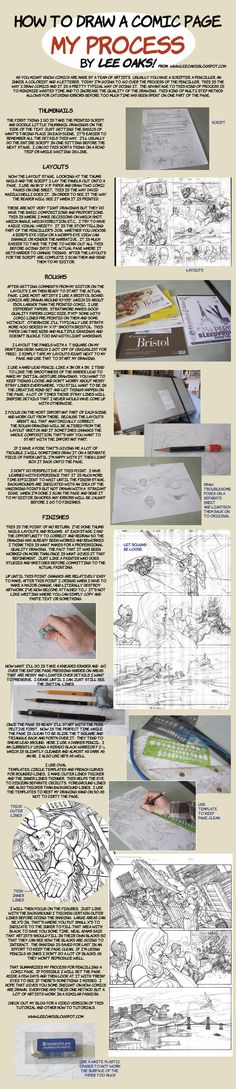 How to Draw Comics  layout to finished pencils by leeoaks.deviantart.com on @deviantART