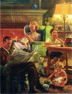 Family evening time-Hy Hintermeister
