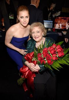 Stars Amy Adams and Betty White, arrive to the 41st Annual People's Choice Awards at Nokia Theatre LA Live on January 7, 2015.