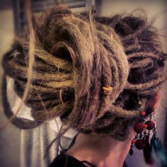 There are already 274 enthralling, inspiring and awesome images tagged with dreadlocks Dreadlock Hairstyles, Messy Hairstyles, Pretty Hairstyles, Bun Hairstyle, Pretty Dreads, Beautiful Dreadlocks, Dreadlock Styles, Dreads Styles, Dreadlock Products