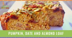 This pumpkin, date and almond loaf has all the essential ingredients for a healthy breakfast! It can be made ahead of time for the whole family to enjoy.