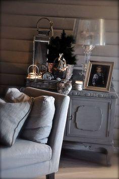 Grau, Couch, landhaus, modern, gemütlich
