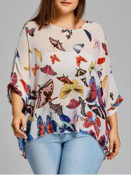Buy Butterfly Print Plus Size Chiffon Blouse, sale ends soon. Be inspired: discover affordable quality shopping on Gearbest Mobile! Plus Size Blouses, Plus Size Tops, Plus Size Dresses, Plus Size Women, Plus Size Outfits, Dresses Uk, Evening Dresses, Looks Plus Size, Fashion Seasons