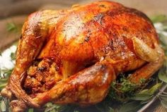 Emeril's Brine Recipe - Citrus and Herb Brined Roasted Turkey with Gravy Recipe Turkey Stuffing Recipes, Roast Turkey Recipes, Oven Roasted Turkey, Turkey Brine, Turkey Gravy, Thanksgiving Turkey, Thanksgiving Recipes, Christmas Turkey, Happy Thanksgiving