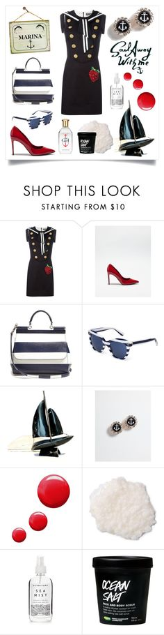 """""""Sail Away- Marina"""" by bunnyfindsvintage ❤ liked on Polyvore featuring Dolce&Gabbana, Topshop, Herbivore, dolceandgabbana and SpringStyle"""