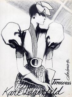 Karl Lagerfeld 1972 Antonio (Illustrator) Timwear & Bosch Mir Textiles by Antonio (Illustrator) | Hprints.com
