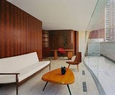 Beautiful interior at the Harrison Street Townhouse by 1100 Architect. Are you curious to see  more mid-century interiors? Click on the image.