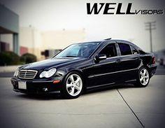 WellVisors For 08-14 Mercedes Benz W204 C-Class 4Dr Side Window Visors Deflector