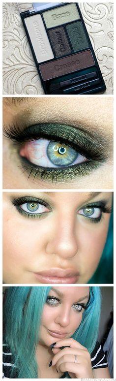 "Green Eye Makeup featuring Wet n Wild's ""Girls Just Wanna Have Funds"" Eyeshadow Palette"