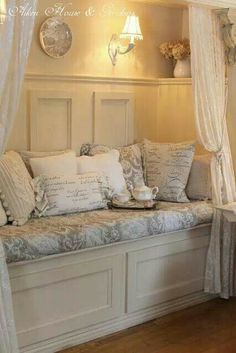 Nice reading nook. A wee bit frou frou and where does the tea rest? Other than that- good to go.