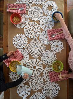 DIY a snowflake table runner