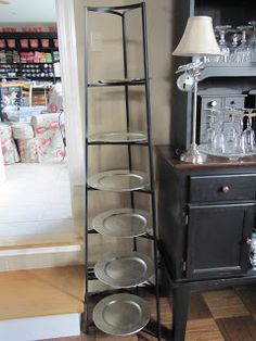 Pot rack to serve appetizers or hold more glasses