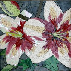 Tri Color Lilies - Mosaic Art