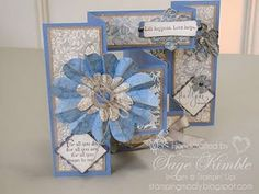 Tri-Fold Shutter Card - Stamping Madly: Cardmaking & Papercrafting Instruction and Supplies