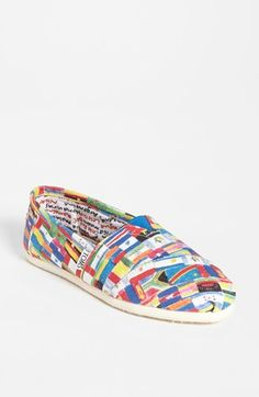 TOMS 'Classic - Flag' Slip-On (Women) (Nordstrom Exclusive) available at #Nordstrom..... Amazing!!!