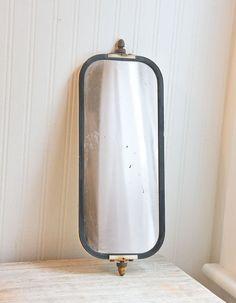Industrial Mirror Old Truck Mirror vintage mirror by MollyFinds, $30.00