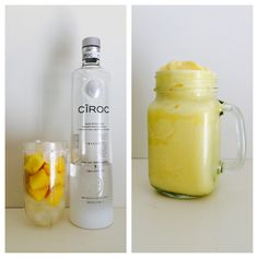 pina colada. coconut ciroc. frozen pineapples. ice. yummyyyyyy